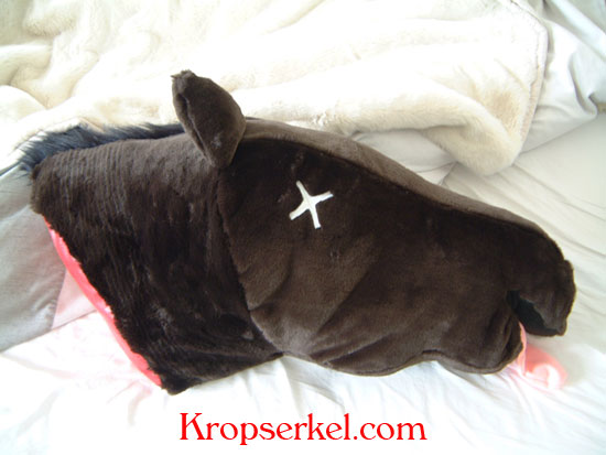 the horse head plush is the perfect reminder of the mistake they once made in wronging you or for someone who just needs a good shaking up - Horses Head Pillow
