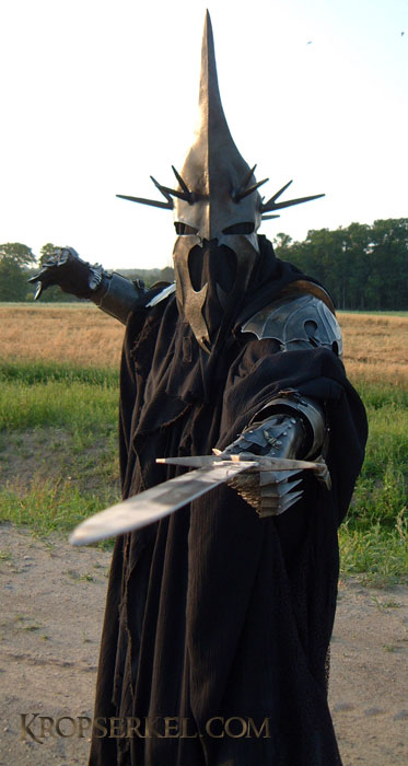 The sharp and spiky look is   Nazgul Costume