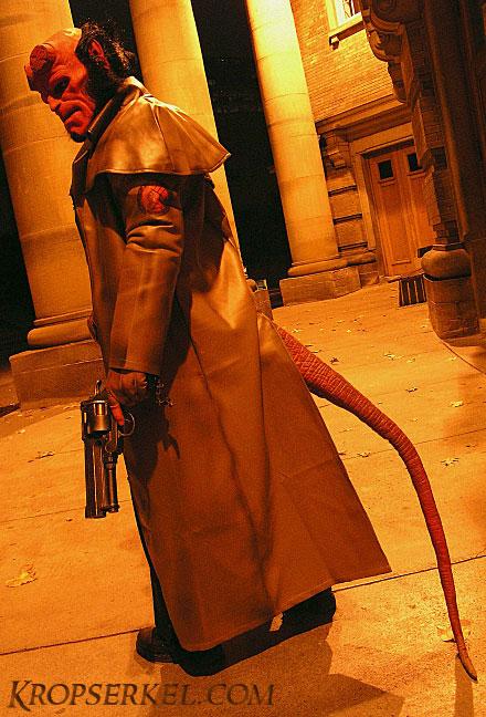 kropserkel hellboy costume and samaritan holster replica